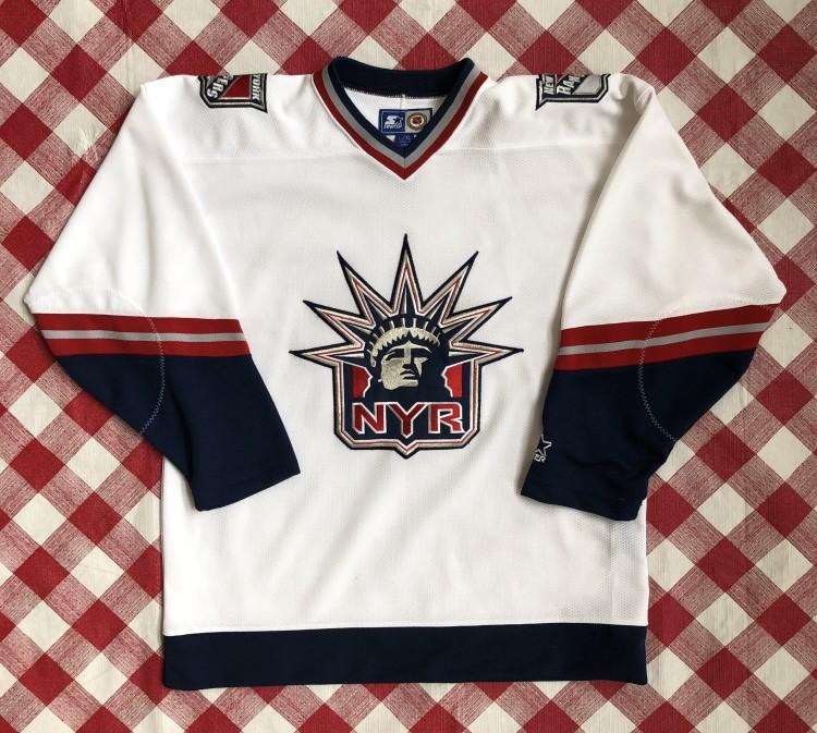 best loved 75c9e 826ee 90's New York Rangers Starter Lady Liberty Alternate NHL Jersey