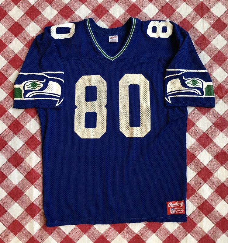 brand new e60ab 7a3ba 1980's Steve Largent Seattle Seahawks Authentic Rawlings NFL Jersey