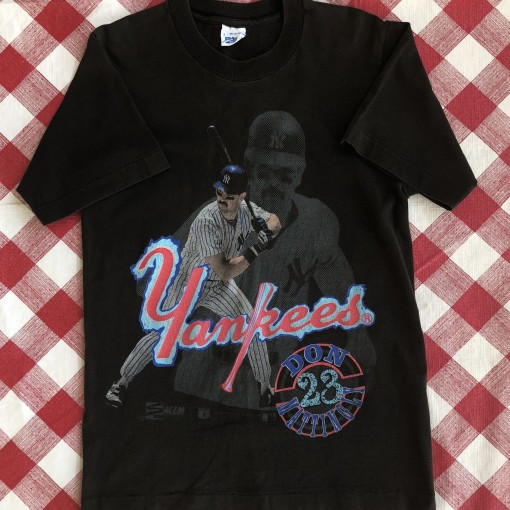 90's 80's Don Mattingly New York Yankees salem mlb t shirt size small