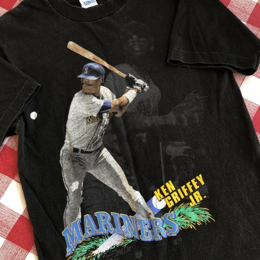 Vintage 90's 80's Ken Griffey Jr Seattle mariners Salem MLB t shirt size small