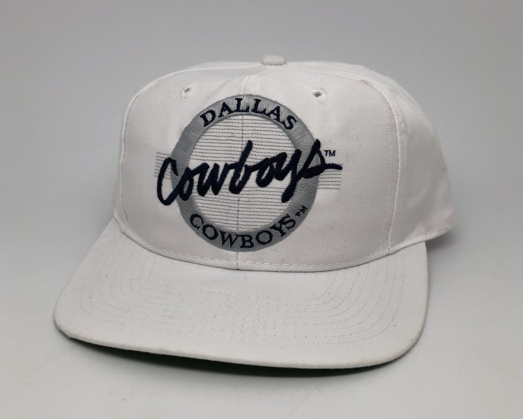 d0c4dbc3d vintage 90 s Dallas Cowboys The Game Circle Logo NFL Snapback hat