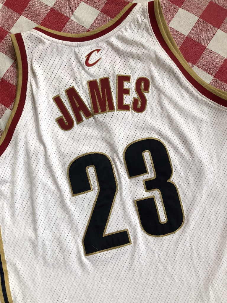 pretty nice 070e0 a3256 2003 Lebron James Cleveland Cavaliers Authentic Reebok NBA Jersey Size 52