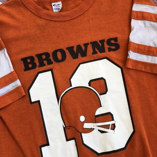 Vintage 80's Cleveland Browns Bernie Kosar champion NFL t shirt