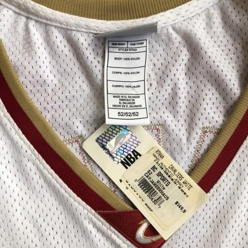 6D2A7854-6D38-47EE-9D7EVintage 2003 Lebron James Cleveland Cavaliers Reebok authentic nba jersey size 52