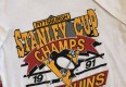 Vintage  1991 Pittsburgh Penguins Stanley cup champion trench nhl t shirt size large