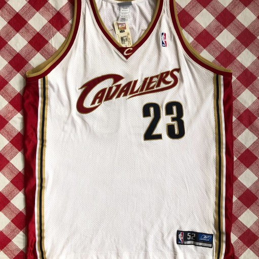 Vintage 2003 Lebron James Cleveland Cavaliers Reebok authentic nba jersey size 52