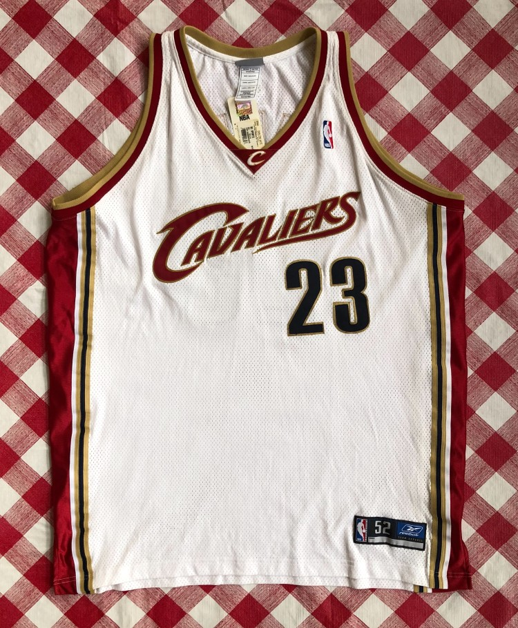 pretty nice d77eb ad417 2003 Lebron James Cleveland Cavaliers Authentic Reebok NBA Jersey Size 52