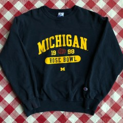 Vintage 1998 Michigan Wolverines champion rose bowl Crewneck size large