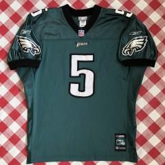 vintage 2001 Donovan McNabb Philadelphia Eagles Reebok helmet tag authentic NFL jersey size 50