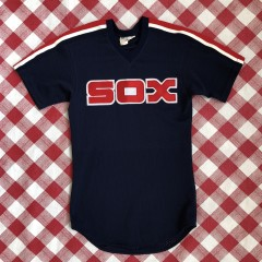 vintage 1980's Chicago White Sox Roman Sport Size Small Authentic Style batting practice jersey