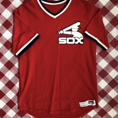 vintage 1980's Chicago White Sox Sandknit MLB jersey size 42