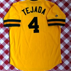Vintage Oakland A's Majestic Cooperstown Collection MLB Jersey size XL Tejada