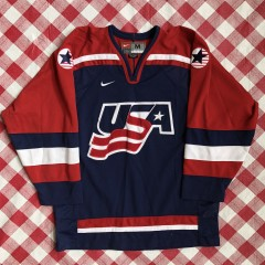2002 Team USA Salt Lake City olympic Nike hockey jersey size Medium
