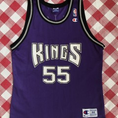 vintage 90's Jason Williams white chocolate Sacramento kings champion NBA jersey size 44 large purple