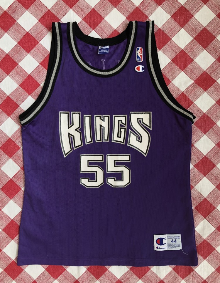 714dc5348 vintage 90 s Jason Williams white chocolate Sacramento kings champion NBA  jersey size 44 large purple