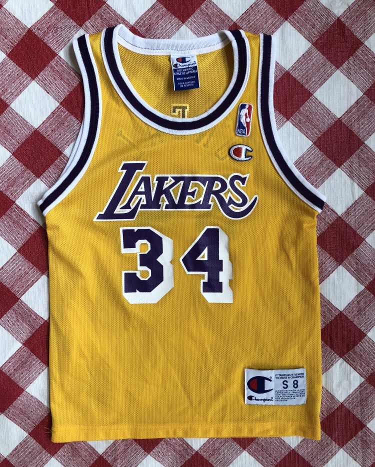 vintage 90 s Shaq Los Angeles Lakers Champion NBA jersey size youth small f174877d7b51