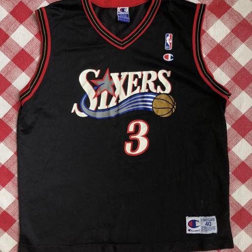 vintage 2001 Allen Iverson Philadelphia sixers 76ers champion nba jersey size 40