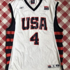2004 Allen Iverson Team USA Reebok Olympic Basketball Jersey
