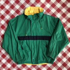 vintage 90's Nautica Sailing reversible jacket green yellow