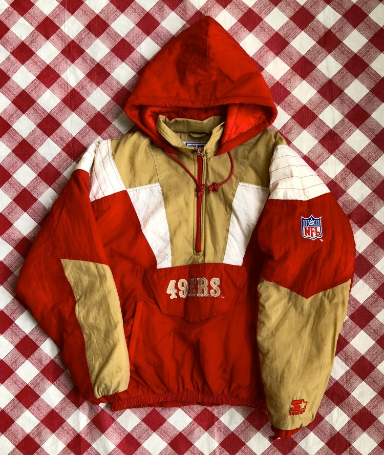 online retailer 4bfcf 59f01 80's San Francisco 49ers Starter Pullover NFL Jacket Size Large
