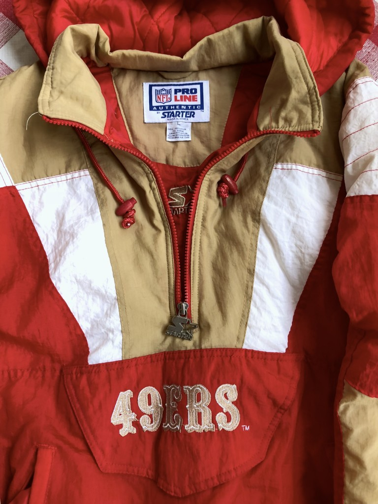 Cheap 80's San Francisco 49ers Starter Pullover NFL Jacket Size Large