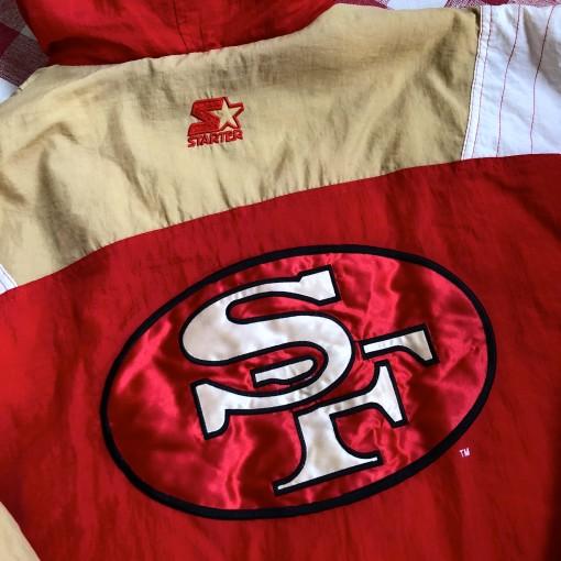 vintage 90's San Francisco 49ers Starter Pulloever Jacket size  large