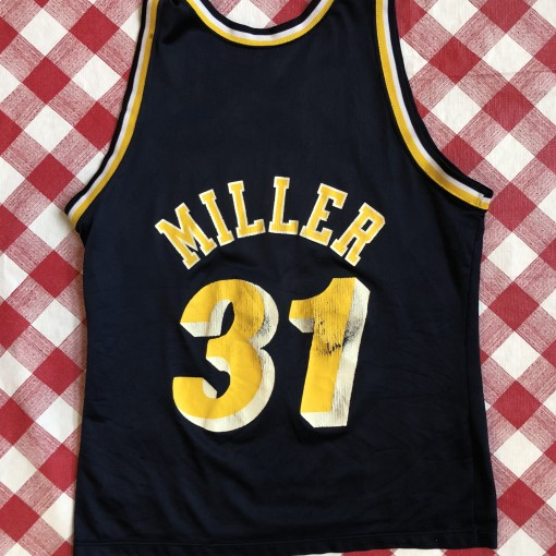 vintage 90s Reggie Miller Indiana Pacers Champion NBA Jersey size 44 large