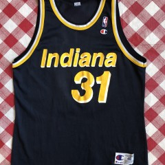 vintage 90's Reggie Miller Indiana Pacers Champion NBA Jersey size 48 XL