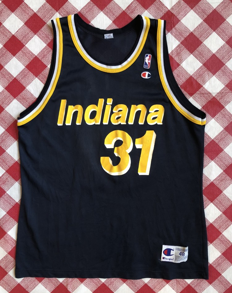 33608fcfe vintage 90 s Reggie Miller Indiana Pacers Champion NBA Jersey size 48 XL