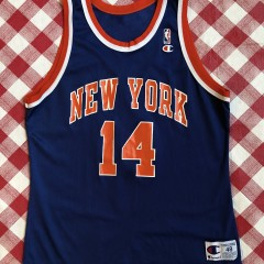 90's Anthony Mason New York Knicks Champion NBA Jersey size 48