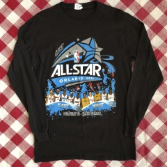 vintage 2012 NBA All Star Game long sleeve t shirt size medium