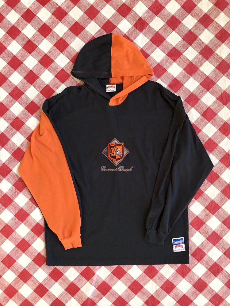 90's Cincinnati Bengals NFL Hooded Long Sleeve Shirt Size XL   Rare Vntg  hot sale