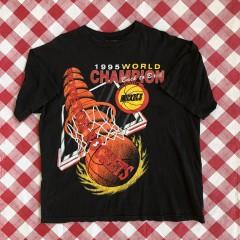 vintage 1995 Houston Rockets NBA World Champions T Shirt size XL