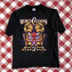 vintage Chicago bulls 1991 1992 nba back to back world champions t shirt size large salem