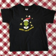 vintage 2001 Dr. Seuss merry grinchmas t shirt size large black how the grinch stole christmas