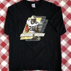 vintage 00's Reggie Bush new Orleans saints nfl t shirt size large