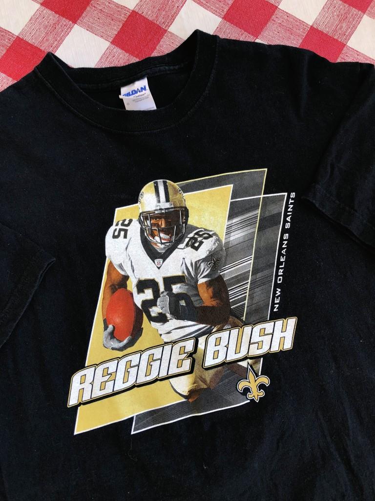 00's Reggie Bush New Orleans Saints NFL T Shirt Size Large   Rare Vntg