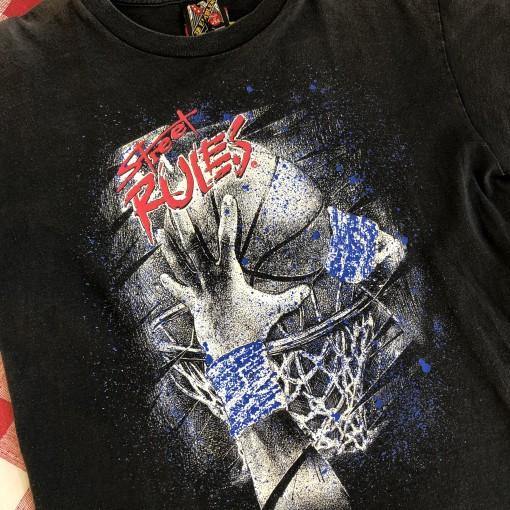 vintage 90's Street Rules Basketball 3D Emblem T Shirt size Medium