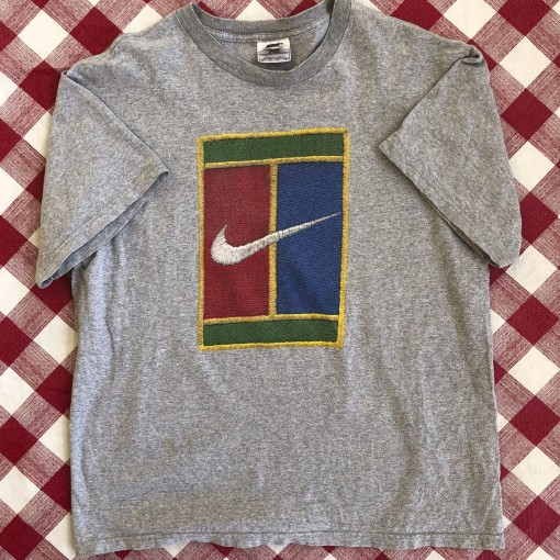 vintage 90's Nike Challenge Court Tennis  t shirt size medium