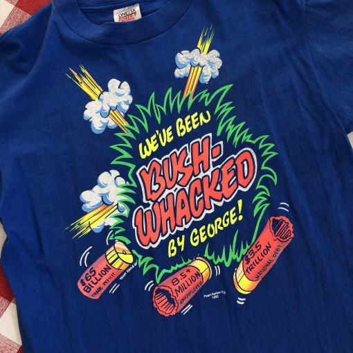 vintage 1992 We've been bush-whacked by George gulf war t shirt vintage 90's size large Oneita