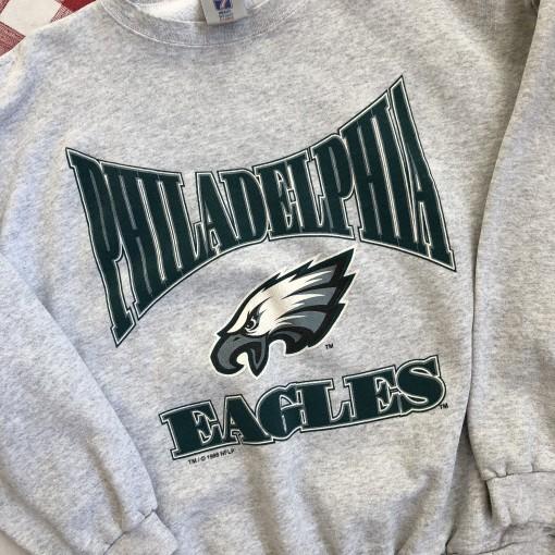 vintage 1996 90's Philadelphia Eagles logo 7 nfl crewneck sweatshirt