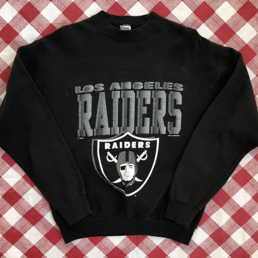 vintage 1992 Los Angeles Raiders fruit of the loom nfl crewneck sweatshirt