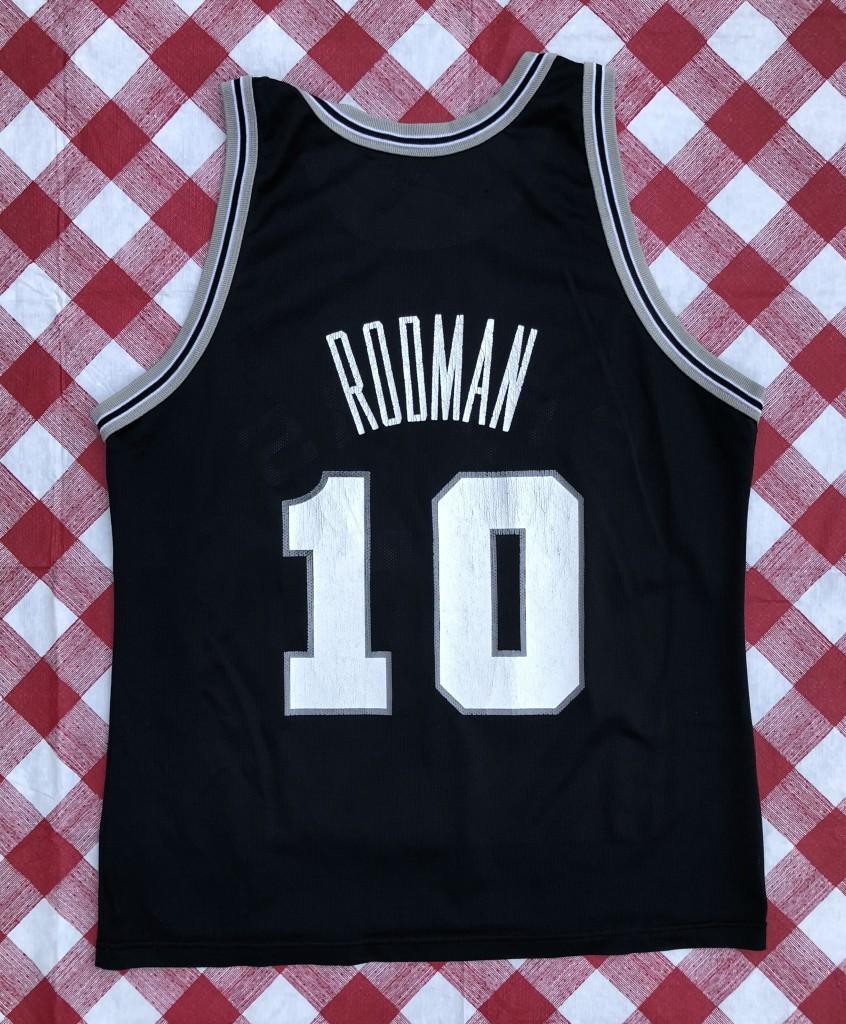 vintage 90 s Dennis Rodman San Antonio Spurs Champion NBA jersey size 44  large 1ac81e0f4