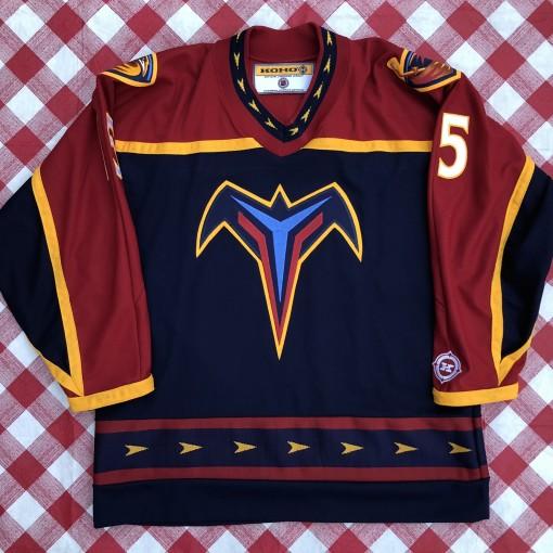 vintage 00's Danny Heatley Atlanta Thrashers Koho NHL jersey size Large
