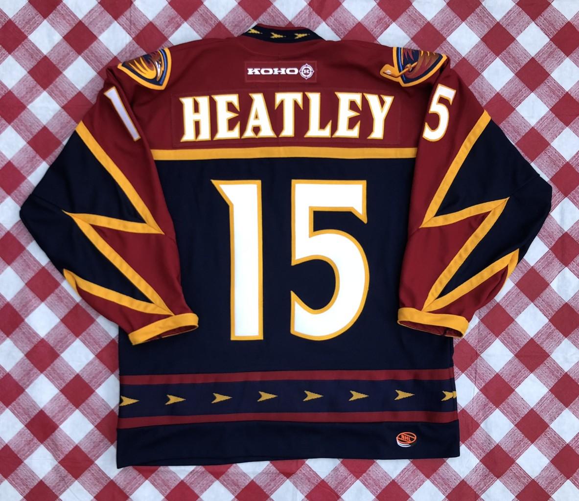 8611579a9 vintage 00 s Danny Heatley Atlanta Thrashers Koho NHL jersey size Large