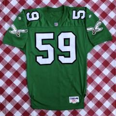 vintage 90's Seth Joyner Philadelphia Eagles Authentic Wilson pro line nfl jersey size 44 large