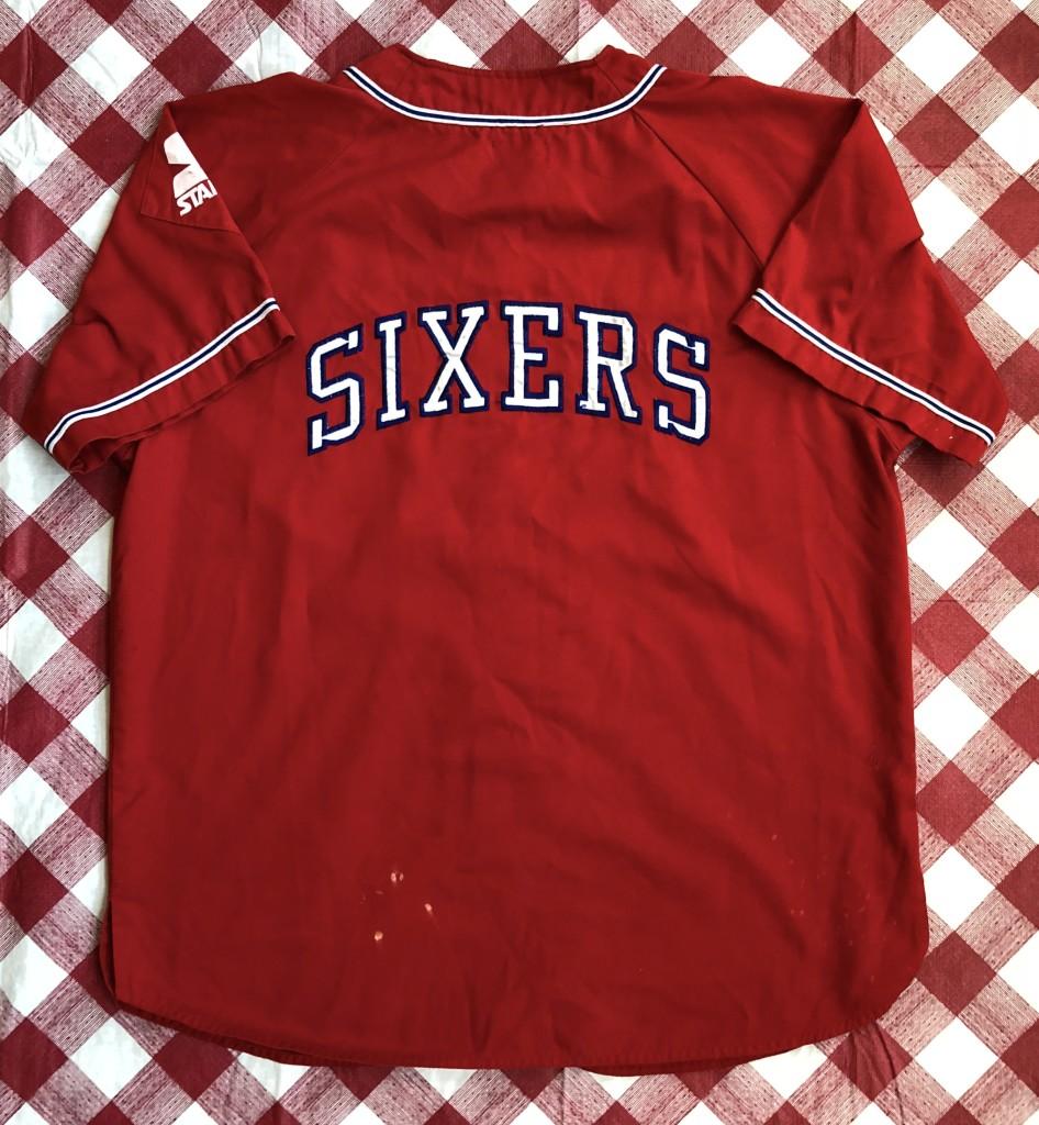 a5b9a1f324ec vintage 90 s Philadelphia 76ers Sixers Starter NBA baseball jersey size  large