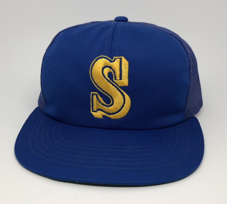 2ad8bb3a90bc0 vintage 80 s Seattle Mariners Sports Specialties Mesh MLB trucker hat