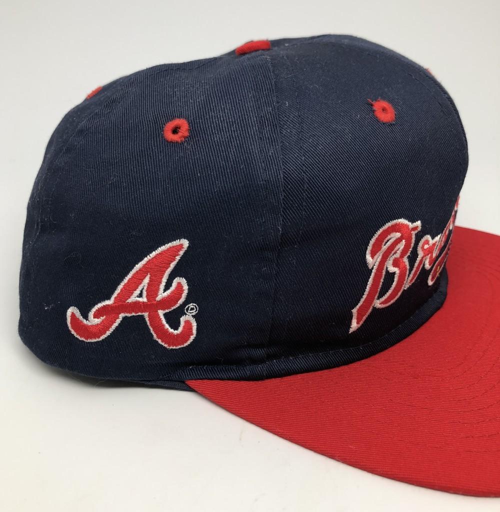 93b75ed4f4e 90's Atlanta Braves Competitor MLB Snapback Hat   Rare Vntg