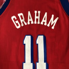 Vintage 90's Greg Graham Philadelphia Sixers 76ers Champion NBA jersey size 40 medium